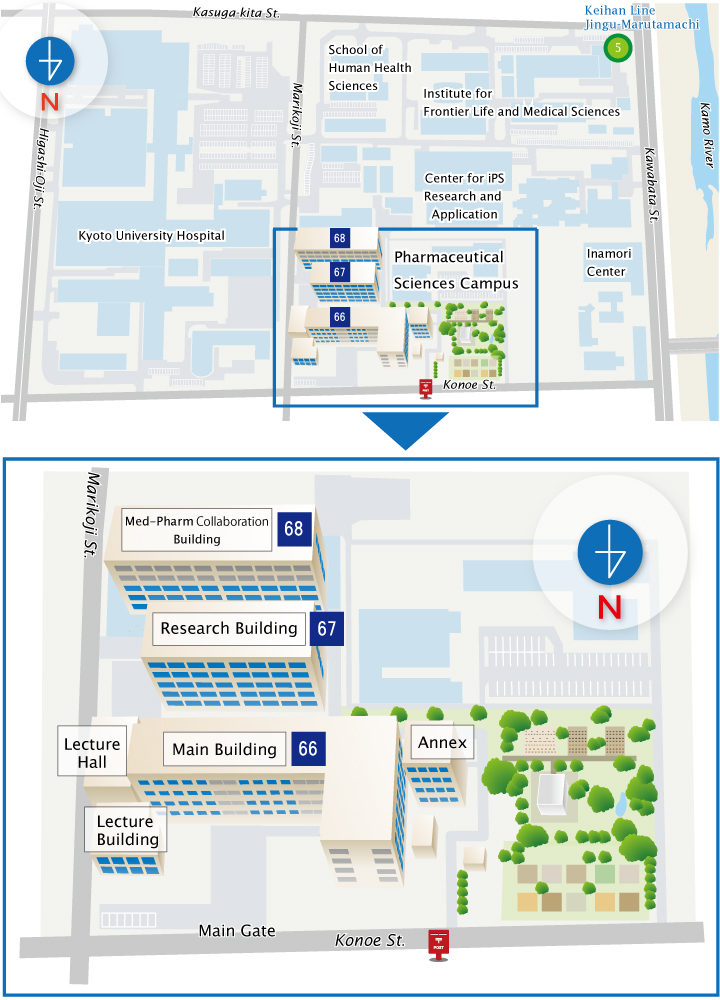 Campus Map Graduate School And Faculty Of Pharmaceutical Sciences